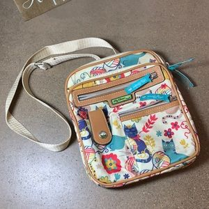 Lily Bloom crossbody cat purse